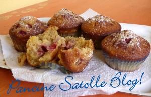 Muffins fragole limone cannella