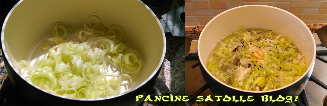 zuppa di lenticchie nere e porri 2