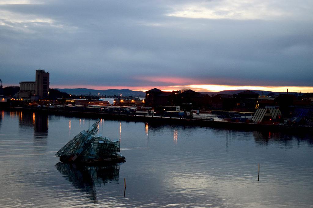 oslo sunset from opera house